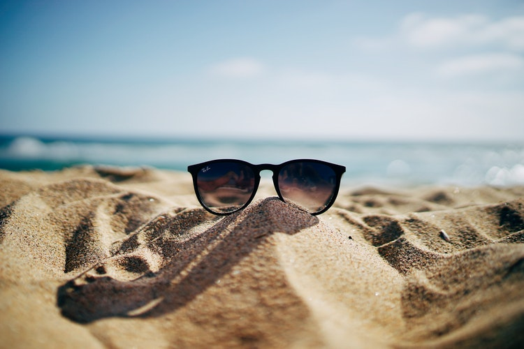 Sunglass on a beach